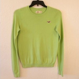 Holister Sweater Womens size M Green Lime Soft